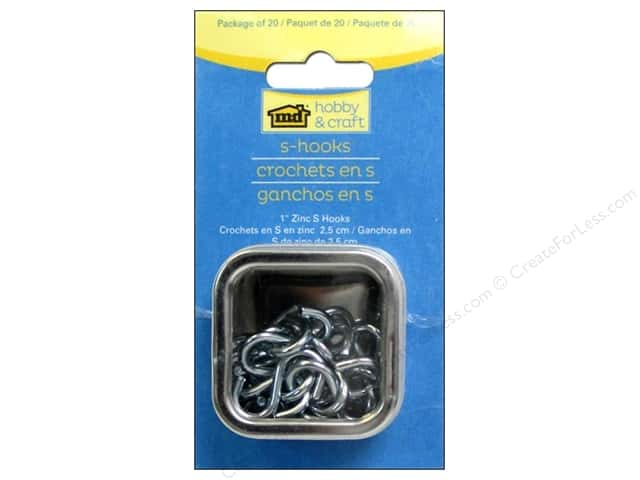 MD Metal Tools S Hooks 20pc