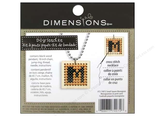 Dimensions Cross Stitch Kit Square Monogram Natural