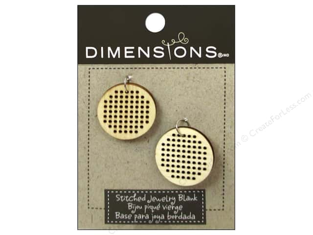 Dimensions Wood Blanks Circle Small 2pc