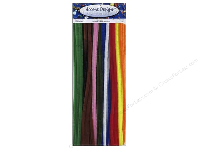 Chenille Stems by Accents Design 6 mm x 12 in. Multi 100 pc.