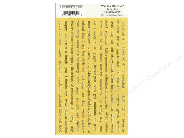 Authentique Stickers 3 1/2 x 6 in. Favorite Petite Diction (12 sets)