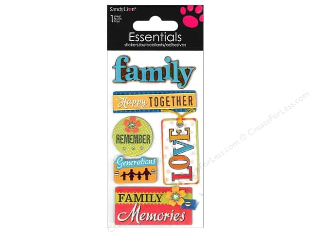 SandyLion Sticker Essentials Family