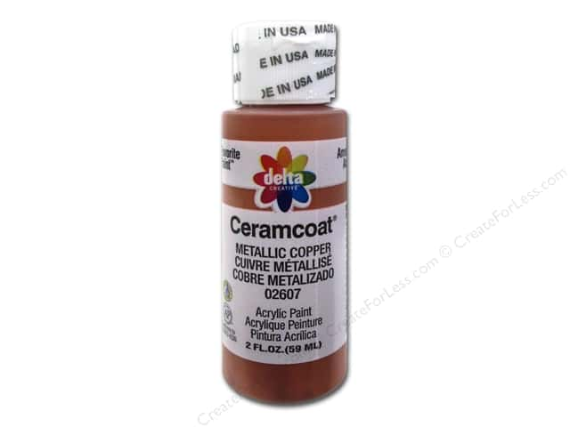 Ceramcoat Acrylic Paint by Delta 2 oz. #2607 Metallic Copper