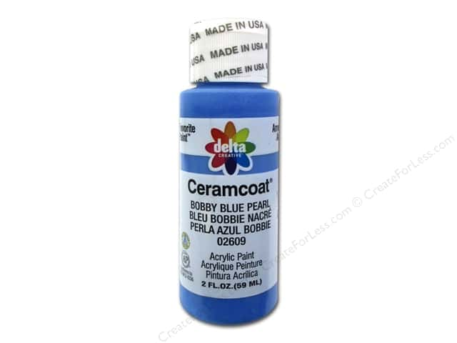 Ceramcoat Acrylic Paint by Delta 2 oz. #2609 Bobby Blue Pearl