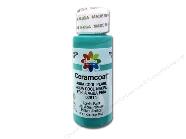 Ceramcoat Acrylic Paint by Delta 2 oz. #2614 Aqua Cool Pearl