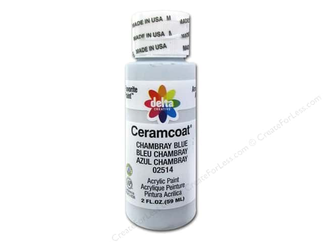Ceramcoat Acrylic Paint by Delta 2 oz. #2514 Chambray Blue