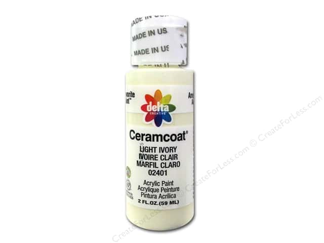 Ceramcoat Acrylic Paint by Delta 2 oz. #2401 Light Ivory