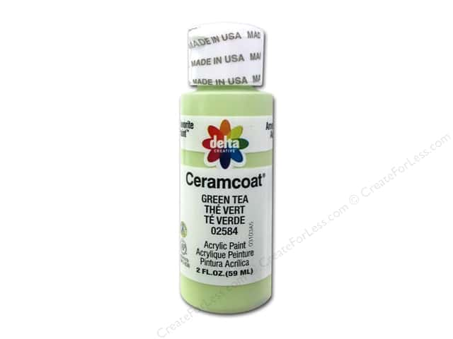 Ceramcoat Acrylic Paint by Delta 2 oz. #2584 Green Tea