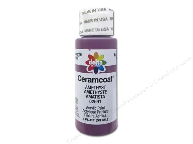 Ceramcoat Acrylic Paint by Delta 2 oz. #2591 Amethyst