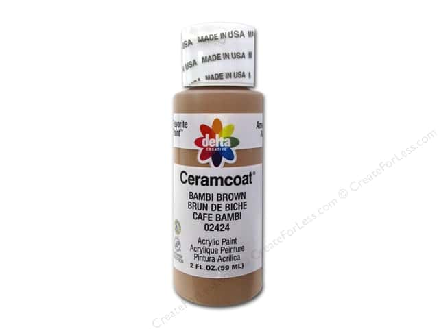 Ceramcoat Acrylic Paint by Delta 2 oz. #2424 Bambi Brown