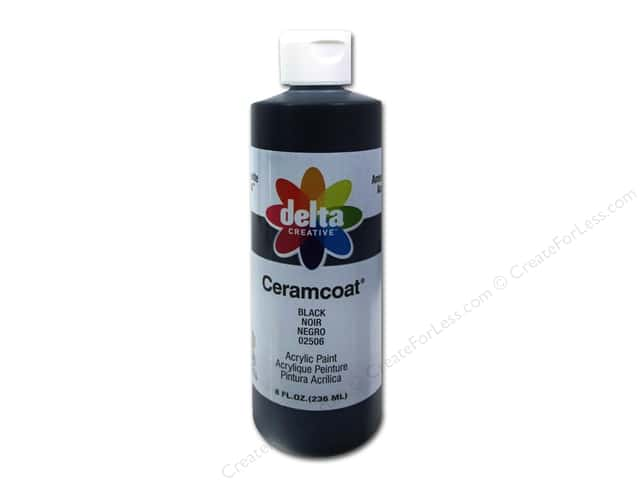 Delta Ceramcoat Acrylic 8oz Black