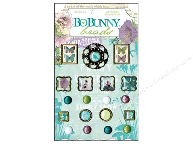 Bo Bunny Brads 19 pc. Enchanted Garden