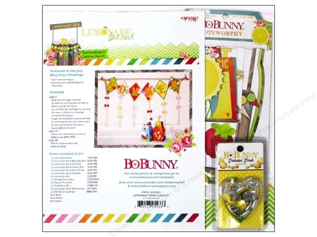 Bo Bunny Project Kit Lemonade Stand Summer Banner & Lanterns