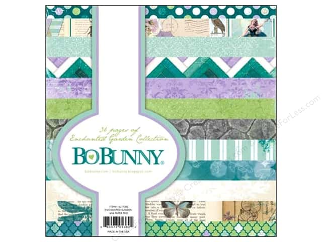 Bo Bunny 6 x 6 in. Paper Pad Enchanted Garden