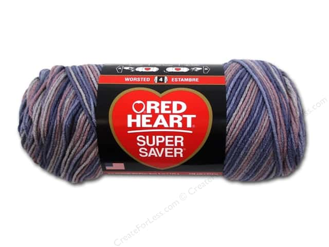 Coats & Clark Red Heart Super Saver 4ply 5oz Mulberry Mix