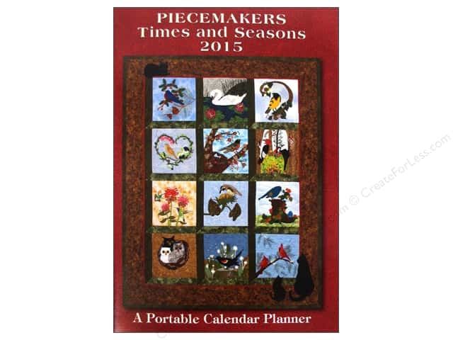 Piecemakers Times & Seasons Portable Planner 2015 Calendar Nature's Chorus