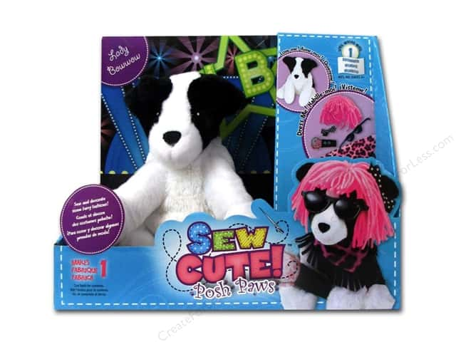 Colorbok Learn To Kit Sew Cute Posh Paws Lady Bow Wow