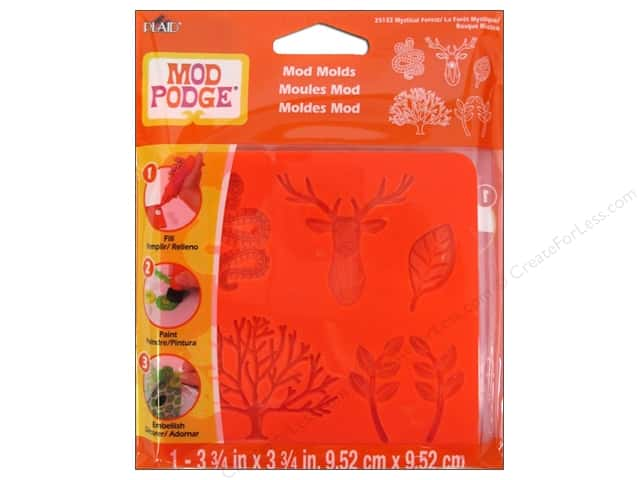 Plaid Mod Podge Tools Mold Mystical Forest