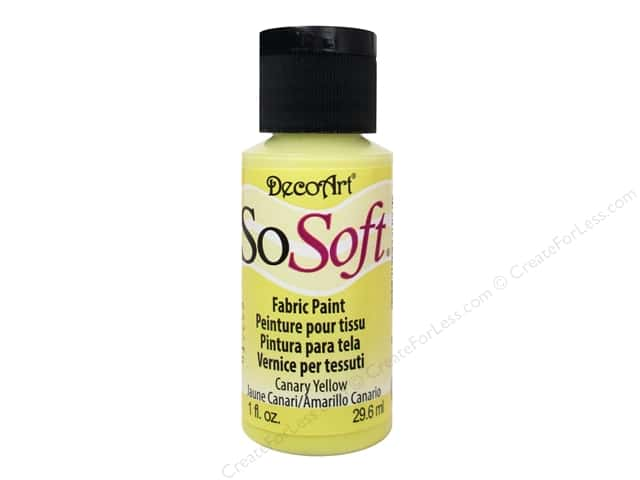 DecoArt SoSoft Fabric Paint 1.15 oz. #89 Canary Yellow