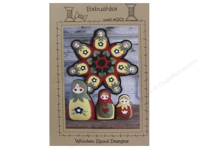 Wooden Spool Designs Babushka Pattern