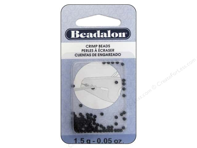 Beadalon Crimp Beads 2 mm Black .05 oz.