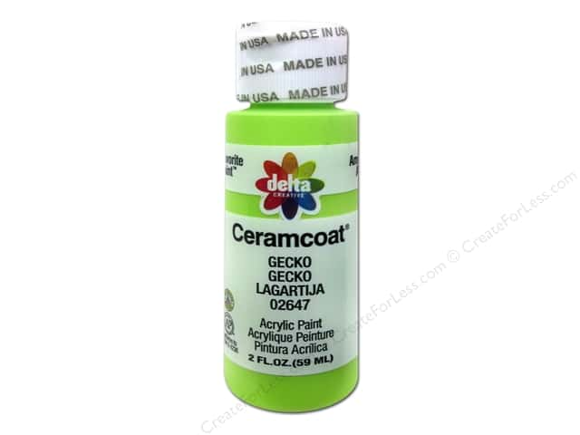 Ceramcoat Acrylic Paint by Delta 2 oz. #2647 Gecko