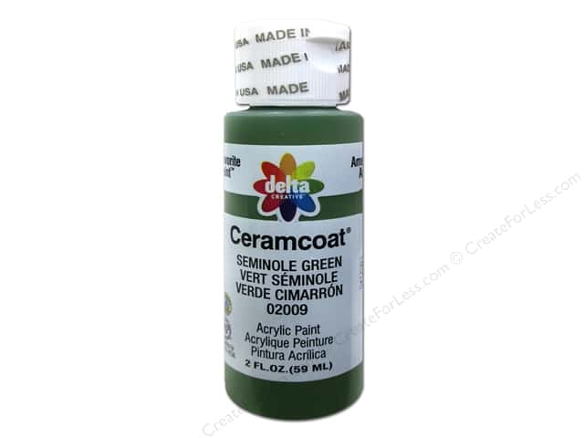 Ceramcoat Acrylic Paint by Delta 2 oz. #2009 Seminole Green