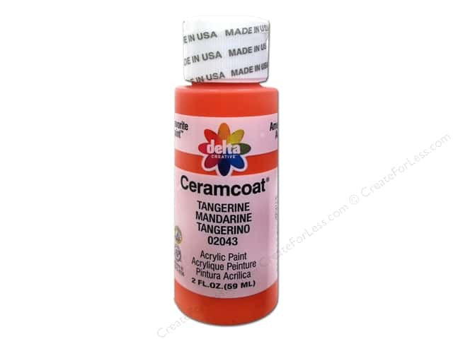 Ceramcoat Acrylic Paint by Delta 2 oz. #2043 Tangerine
