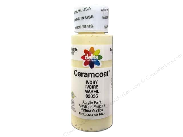Ceramcoat Acrylic Paint by Delta 2 oz. #2036 Ivory
