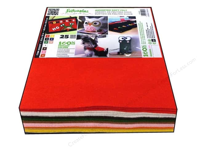 "CPE Soft Felt 9""x 12"" Assorted Basic 25pc"