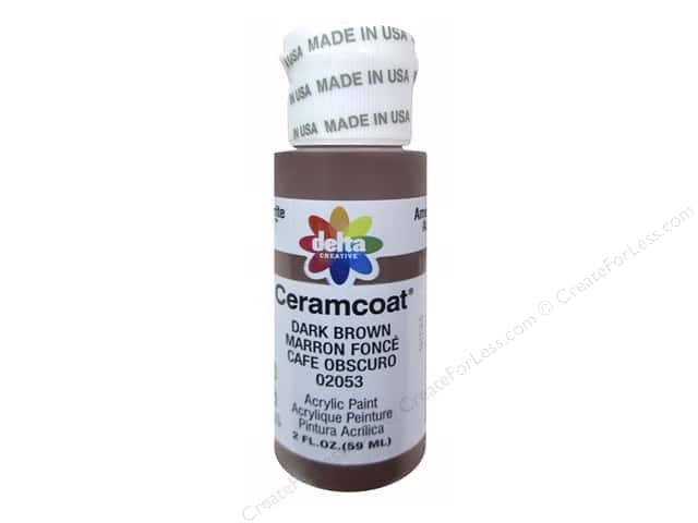 Ceramcoat Acrylic Paint by Delta 2 oz. #2053 Dark Brown