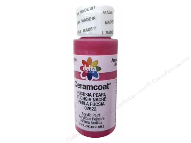 Ceramcoat Acrylic Paint by Delta 2 oz. #2622 Fuchsia Pearl