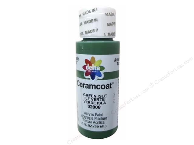 Ceramcoat Acrylic Paint by Delta 2 oz. #2008 Green Isle