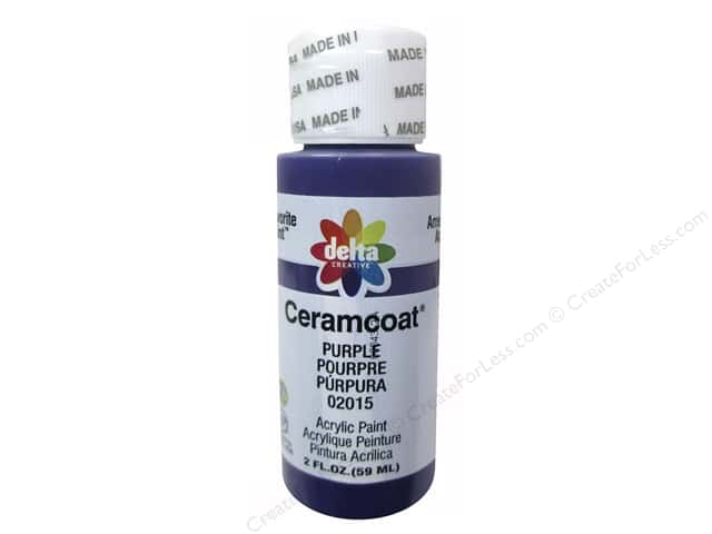 Ceramcoat Acrylic Paint by Delta 2 oz. #2015 Purple