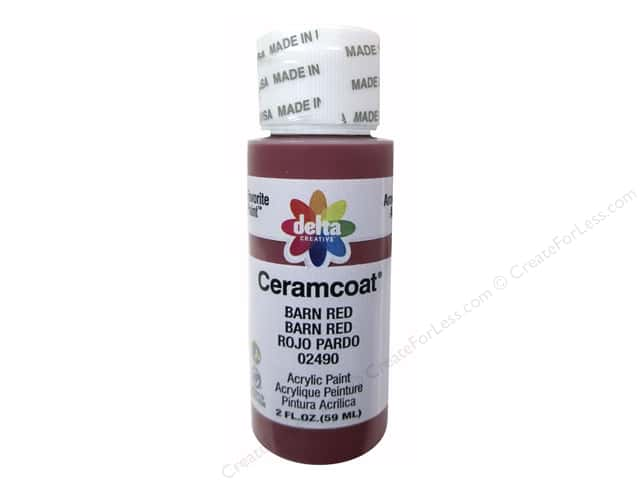 Ceramcoat Acrylic Paint by Delta 2 oz. #2490 Barn Red