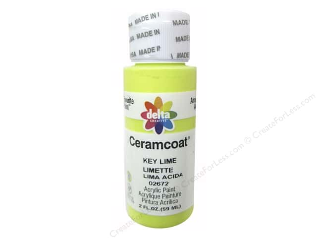 Ceramcoat Acrylic Paint by Delta 2 oz. #2672 Key Lime