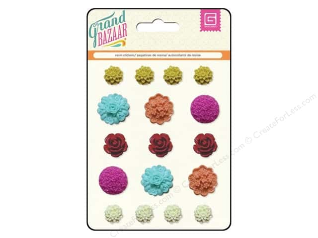 BasicGrey Resin Stickers Grand Bazaar Flower