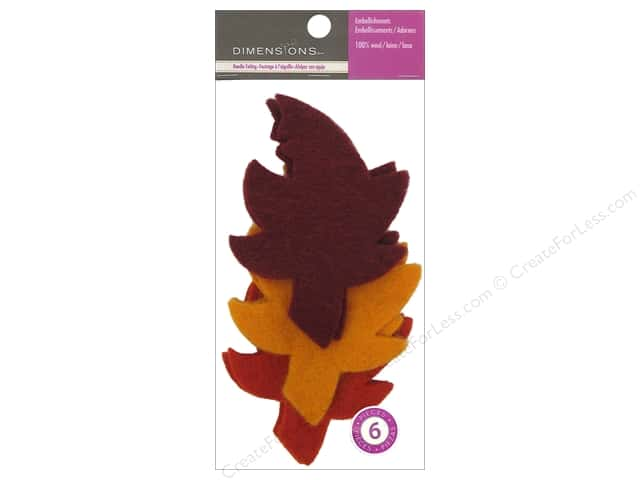 Dimensions 100% Wool Felt Embellishment Autumn Leaves