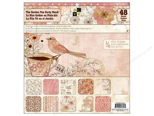 Die Cuts With A View 12 x 12 in. Cardstock Stack The Garden Tea Party