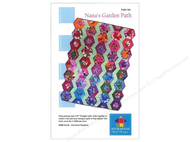 Poorhouse Quilt Design Nana's Garden Path Pattern