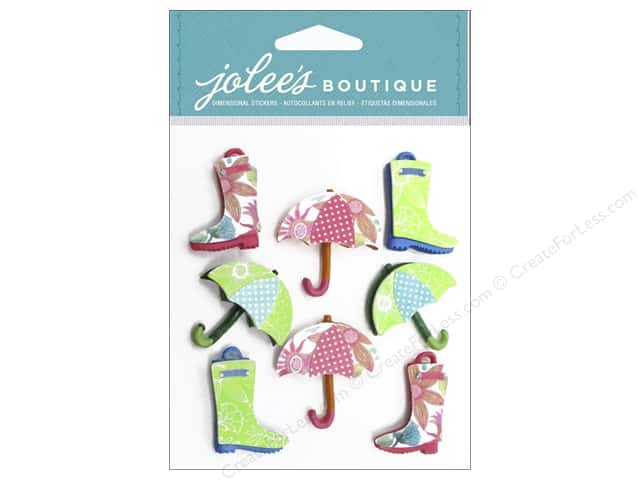 Jolee's Boutique Stickers Galoshes & Umbrellas Repeat