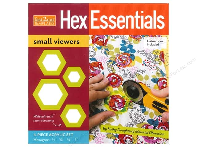 C&T Fast2Cut Hex Essentials Small Viewers Templates 4 pc.