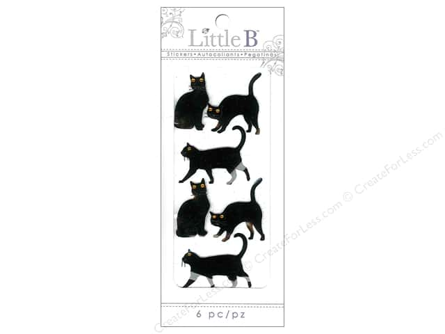 Little B Sticker Cats Black