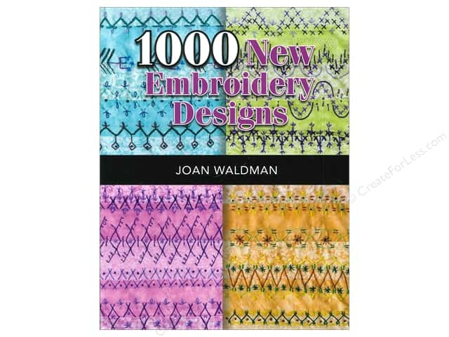 American Quilter's Society 1000 New Embroidery Designs Book by Joan Waldman