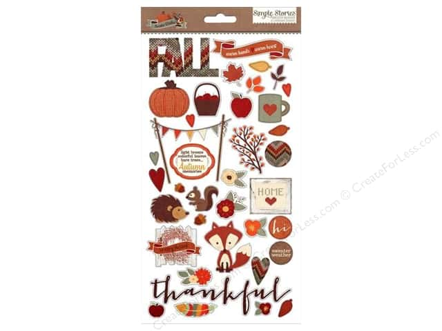 Simple Stories Sweater Weather Sticker Chipboard