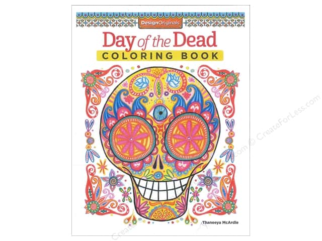 Design Originals Coloring Day Of The Dead Book