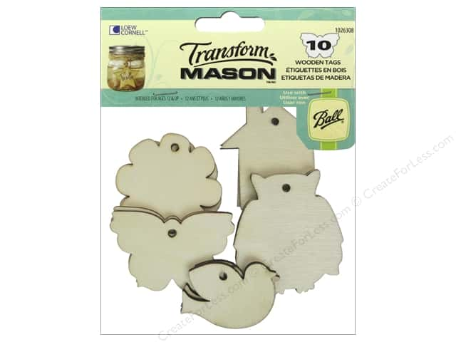 Loew Cornell Transform Mason Wooden Tags 10 pc. Home Sweet Home