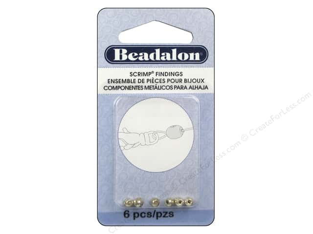 Beadalon Scrimp Finding Memory Wire Oval 6 pc. Silver Plated