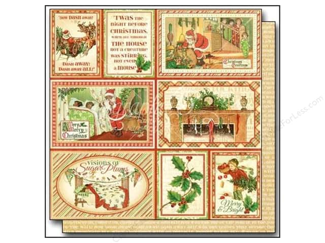 "Graphic 45 Twas The Night Before Christmas Paper 12""x 12"" Long Winter's Nap (25 pieces)"