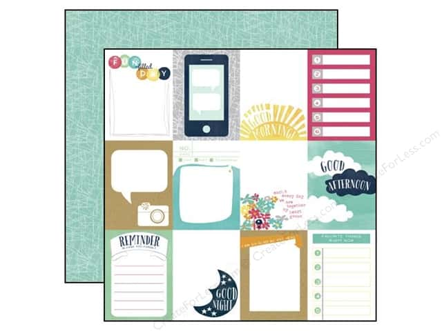 Echo Park 12 x 12 in. Paper Creative Agenda Collection 3 x 4 in. Journaling Cards (25 pieces)